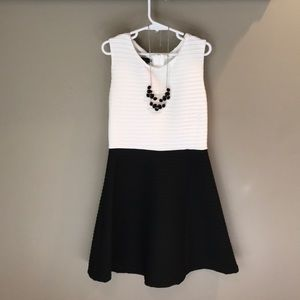 Black and White dress with necklace